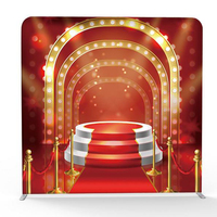 Hot selling Stage Printing Pillow Backdrop with Frame stand for photography background and Party wedding
