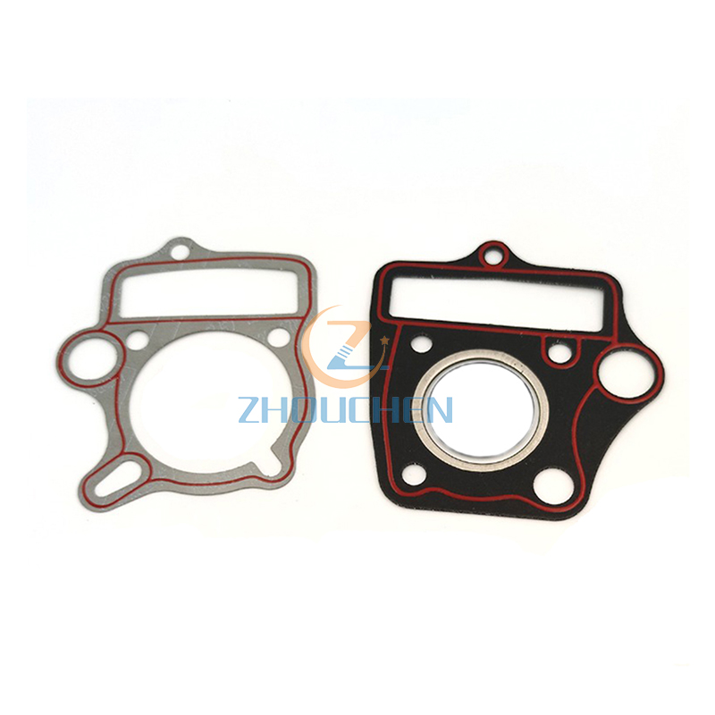 Pit Dirt Bike 52.4mm Head Base Gasket Oval Oil Hole <font><b>110cc</b></font> 125cc Cylinder Pitbike image