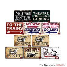 Bar abierto Retro Metal estaño signos Vintage placa No bañera de hidromasaje arte decoración de pared Bar decoración de pared de hogar y bares Retro Metal arte cartel