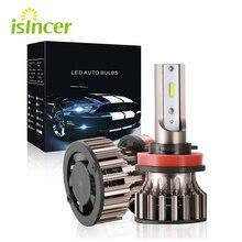 2 Pcs/ערכת H4 Led H7 9005 HB3 H11 H8 H1 נורות רכב אורות 6500k ערפל אור Led automotivo 12V 3D עם ODM CSP 1860 שבבים