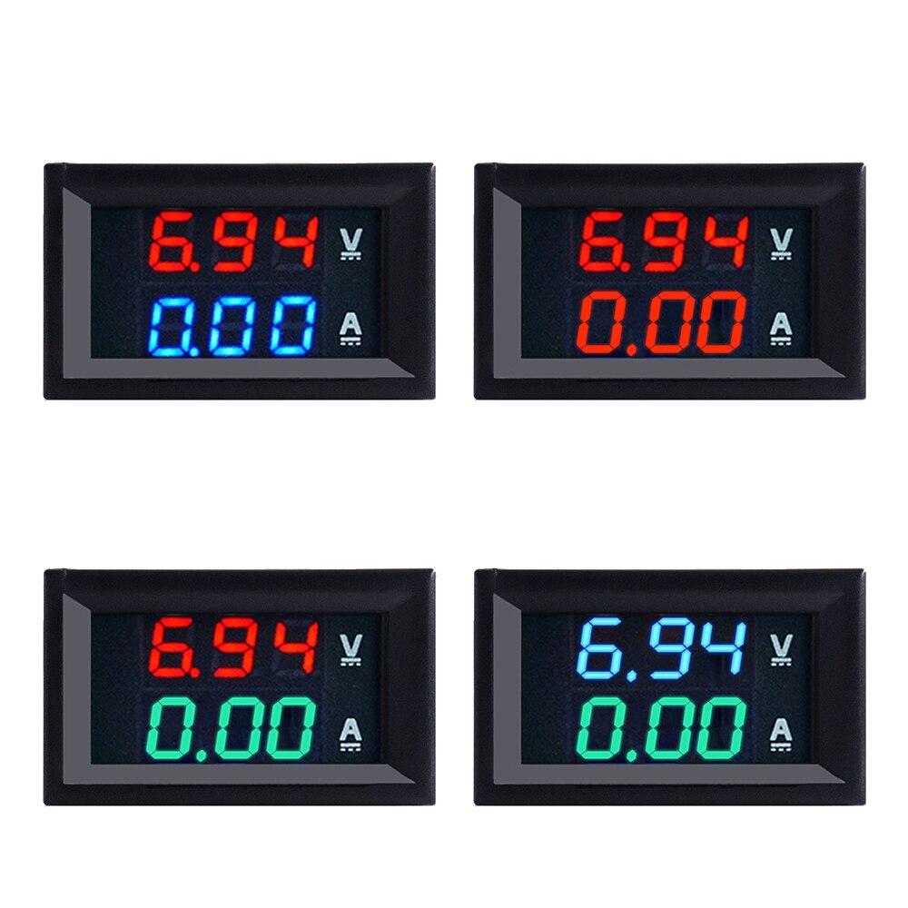 Тестер для автомобиля, цифровой вольтметр, амперметр, измеритель переменного тока 100 В 10A с двойным светодиодным дисплеем 0.56