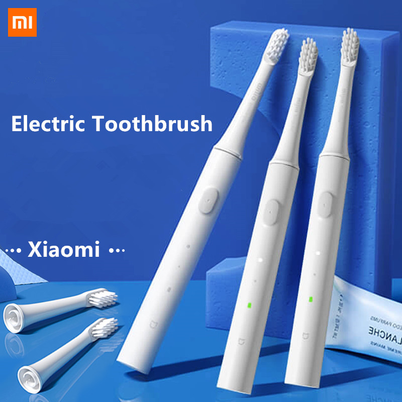 Original Xiaomi Mijia T100 Mi Smart Electric Toothbrush 46g 2 Speed Xiaomi Sonic Toothbrush Whitening Oral Care Zone Reminder