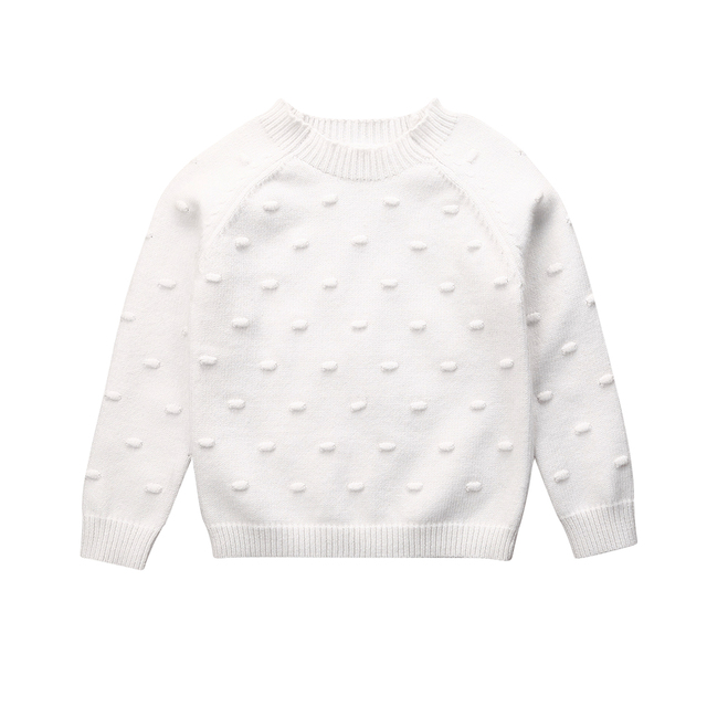 US $5.58 32% OFF|Toddler Kids Baby Girls Knitted Sweater Autumn Winter Clothes Long Sleeve Solid Tops Casual Warm Pullover Pink White 6M 5T|Sweaters|