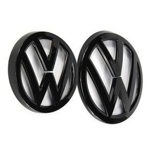 135 мм глянцевый черный Передний Гриль значок + 110 мм черный глянец Задняя Крышка багажника эмблема логотип для Фольксваген Гольф MK7