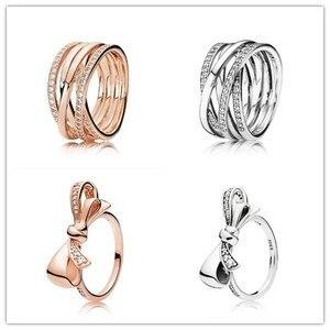Женское кольцо из стерлингового серебра 925 пробы с перфорированным жемчугом и кристаллами, подарок на свадьбу и вечеринку, модные ювелирные...