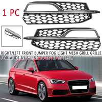 ABS Front Bumper Fog Light Grilles Grill For Audi A3 S3 2013 2014 2015 2016 2017 for A3 S Line 2014 2015 2016 Car styling