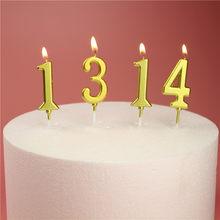 Anzahl Geburtstag Kerzen 1 2 3 4 5 6 7 8 9 0 Gold Splitter Kinder Geburtstag Kerzen fr Kuchen partei Liefert Dekoration Kuchen