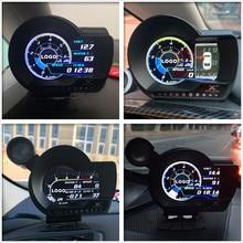 Turbo boost ciśnienie oleju wskaźnik temperatury dla samochodu Afr RPM prędkość paliwa EXT miernik oleju LUFI XF angielska wersja OBD2 wtyczka cyfrowa