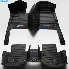 цена на Car Floor Mats for LOGO BMW 1 Series F20 F21 116i 118i 125i M135i 2006 2020 splice car floor mat car Accessories auto foot mats