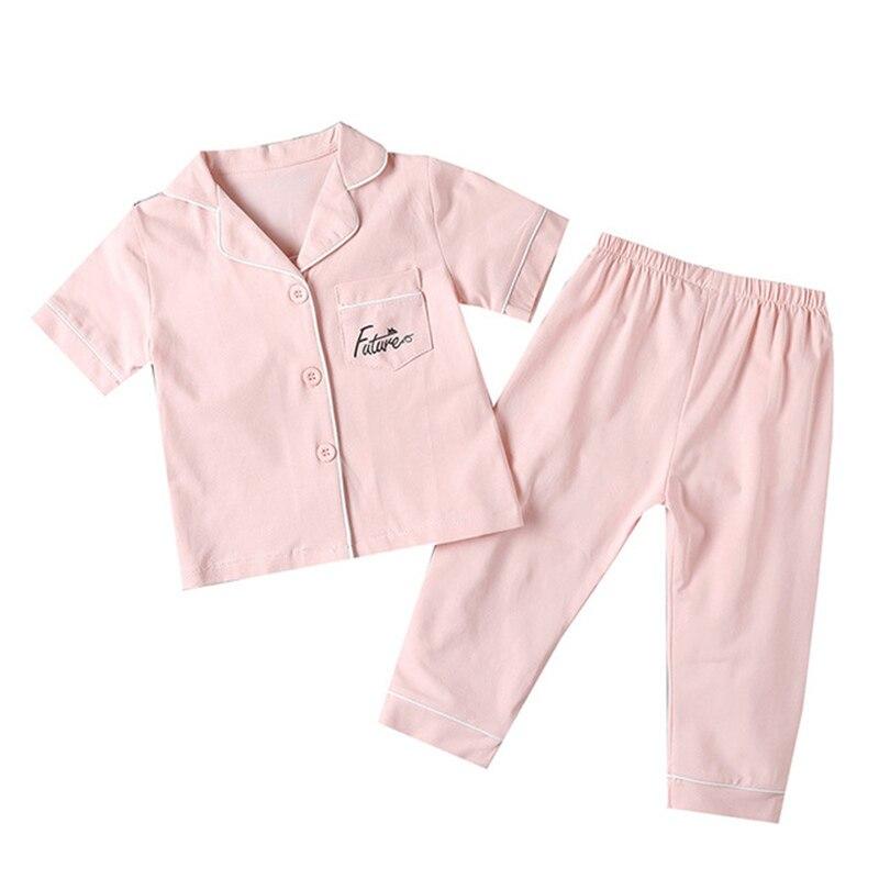 SAILEROAD Children's Pajamas For Girls Pyjamas Short Top+Long Pants Kids Pijama Infantil Boys Sleepwear Child Home Wear Clothes 2