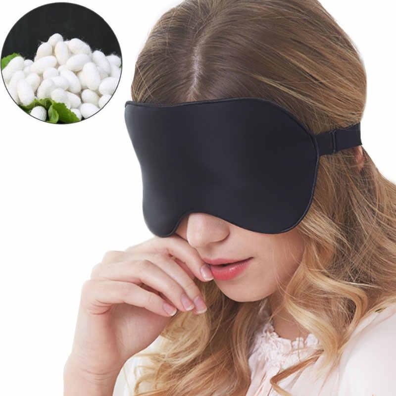 Sleep Mask White and Orange Soft Brushed Cotton Eye Mask