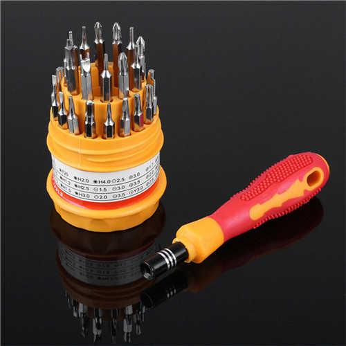 Mini 31-In-1 Schroevendraaiers Set Handleiding Combinatie Precisie Reparatie Kit Tool Multifunctionele Rubberen Handvat