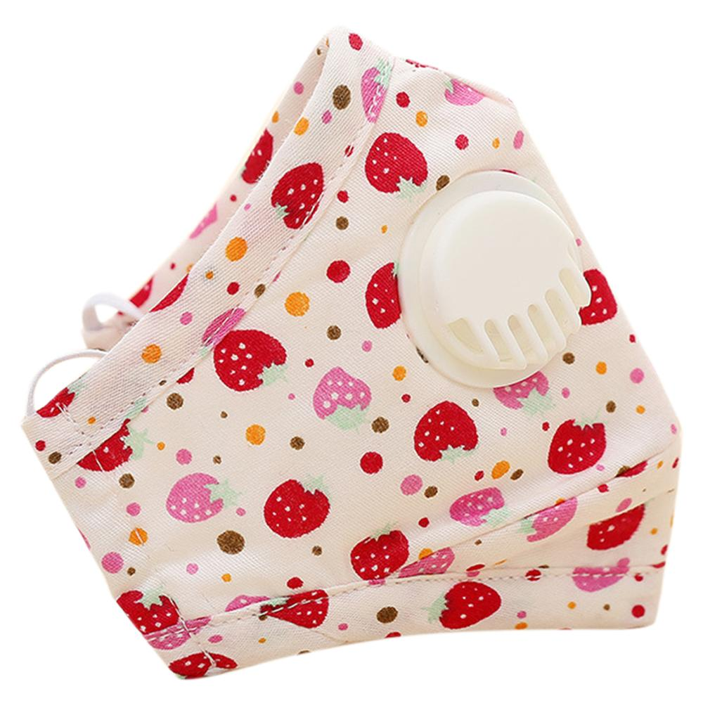 Winter Children Kids Dustproof Washable Cotton N95 Mouth Mask Cartoon Car Strawberry Printed Adjustable Respirator With Breath V