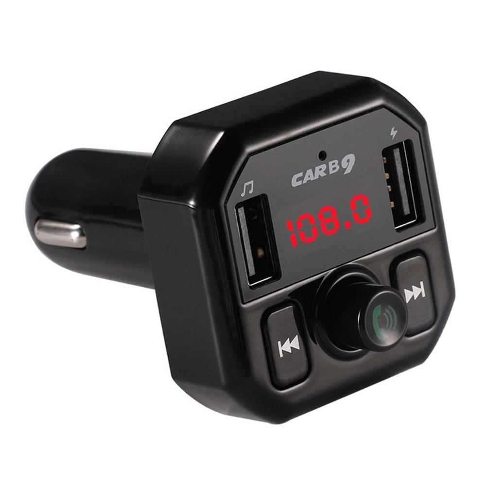 B9 Car Mp3 Player Handsfree Player Car Kit Fm Transmitter Stereo Music Audio Adapter Car Usb 3.1A Quick Charging