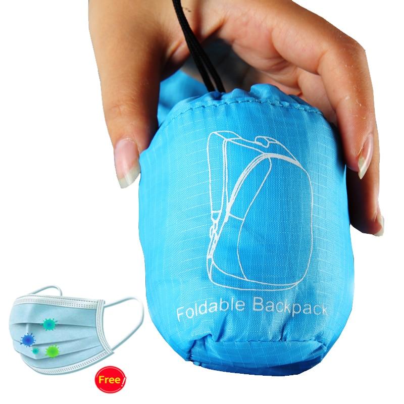 PLAYKING Lightweight Nylon Foldable Backpack Waterproof Mini Travel Backpack Women Men Bag For 2019 Mochila Feminina For Camping