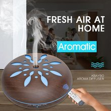 550ml  Ultrasonic Humidifier Essential Oil Diffuser Wood Grain Mist Humidifier LED Night Light for Office Home Bedroom цена и фото