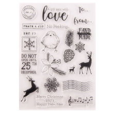 Clear Stamps Card Making Decorative DIY Scrapbooking Christmas Snowflake Deer Transparent Handmade Gift Photo Album Decor
