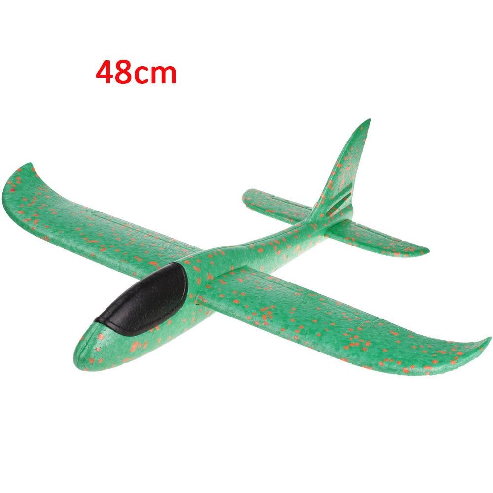 Детские игрушки «сделай сам» самолет из пеноматериала ручной бросок самолет Летающий планер самолет вертолеты летающие модели самолетов самолет игрушка для детей игры на открытом воздухе - Цвет: 48cm-Green