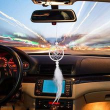 Mini Feather Car Dreamcatcher Pure White Dream Catcher Wall Hanging Decor Home Wind Chimes Ornaments