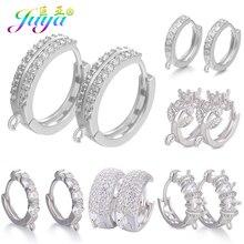 Juya DIY Базовый серьги-кольца, Находка для крепежа Leverback Серебряные серьги крюк Материал для Модные серьги решений