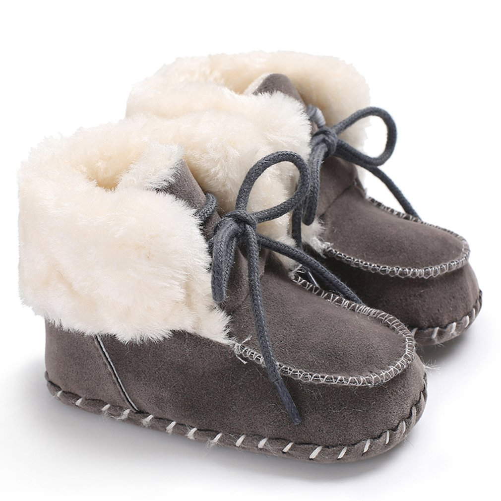 2018 New Infant Toddler Baby Boy Girl Soft Sole Crib Newborn Non-slip Padded Shoes Sneaker Winter Warm Solid Boots 0-18 Months