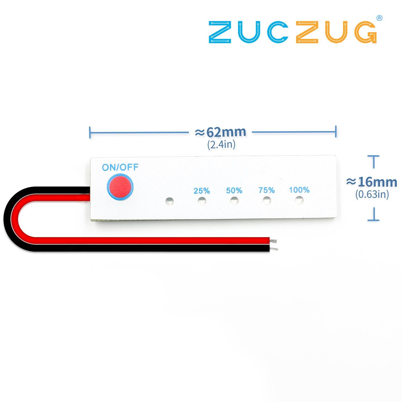 Non-Waterproof 4S Lithium Battery Capacity Indicator 16.8V Battery Power Display Board Tester Li-po Li-ion Pack LED 3 Cells