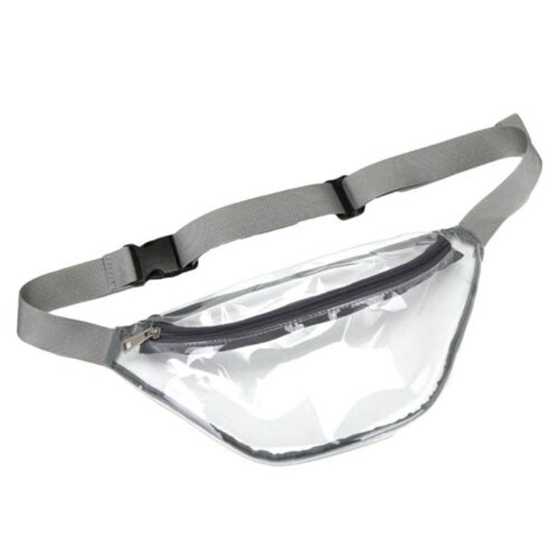Small Clear Waist Bag Waterproof Transparent Waist Pouch For Sports Travel Daily LXX9