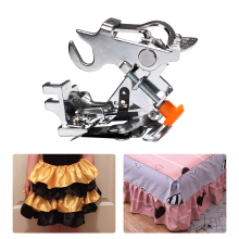 Household Sewing Machine Ruffler Presser Foot Low Shank Pleated Attachment Accessories