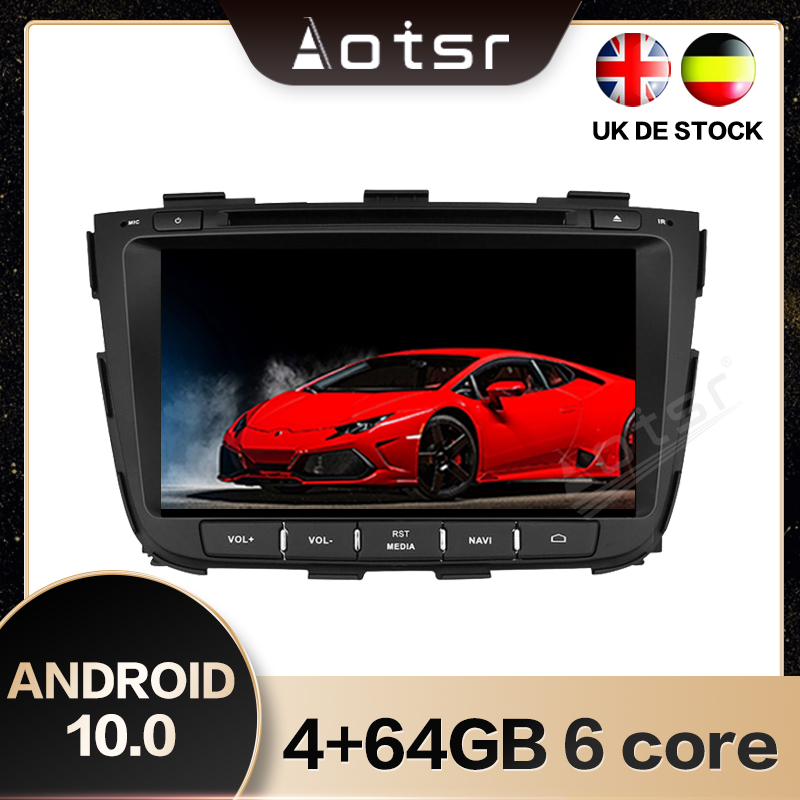 AOTSR For KIA SORENTO 2012-2015 Android 10.0 IPS GPS Navigation Car Radio Player Multimedia Player Head Unit Tape Recorder image