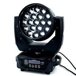 19x15W LED Rayo de zoom Wash círculo control cabeza móvil RGBW 4in1beam profesional DJ/Bar LED escenario máquina DMX512 dj luces
