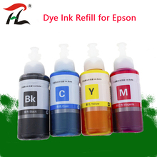 Dye Ink For Epson L120 L132 L222 L310 L364 L380 L382 L486 L566 L800 L805 L1300 ET 2650 Printer T664 Refill Dye Ink For Epson