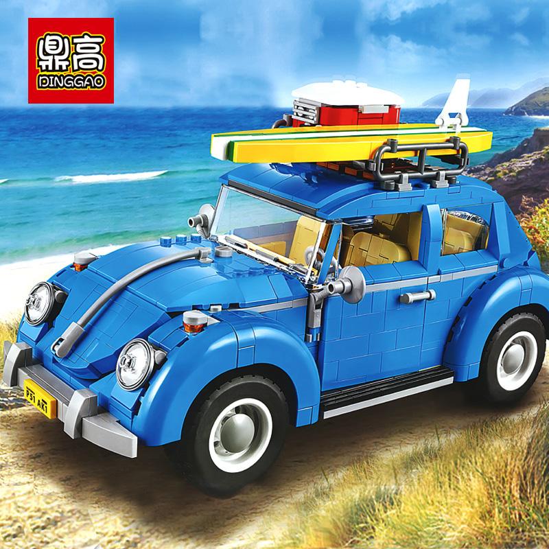 1108pcs Classic Mini Cooper MK Vll Car Building Blocks Set