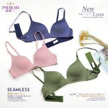 PAERLAN soutien gorge 3/4, poitrine Push Up, confortable, sans fil, pour femmes, style Simple de tous les jours, vert, une pièce, sous vêtement en Lycra
