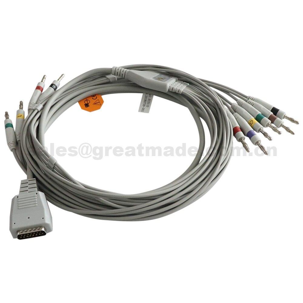 Ekg-Cable ECG for Shanghai Kohden Ecg-6511/6403/Ecg-6151/.. 6353/ecg Leadwires