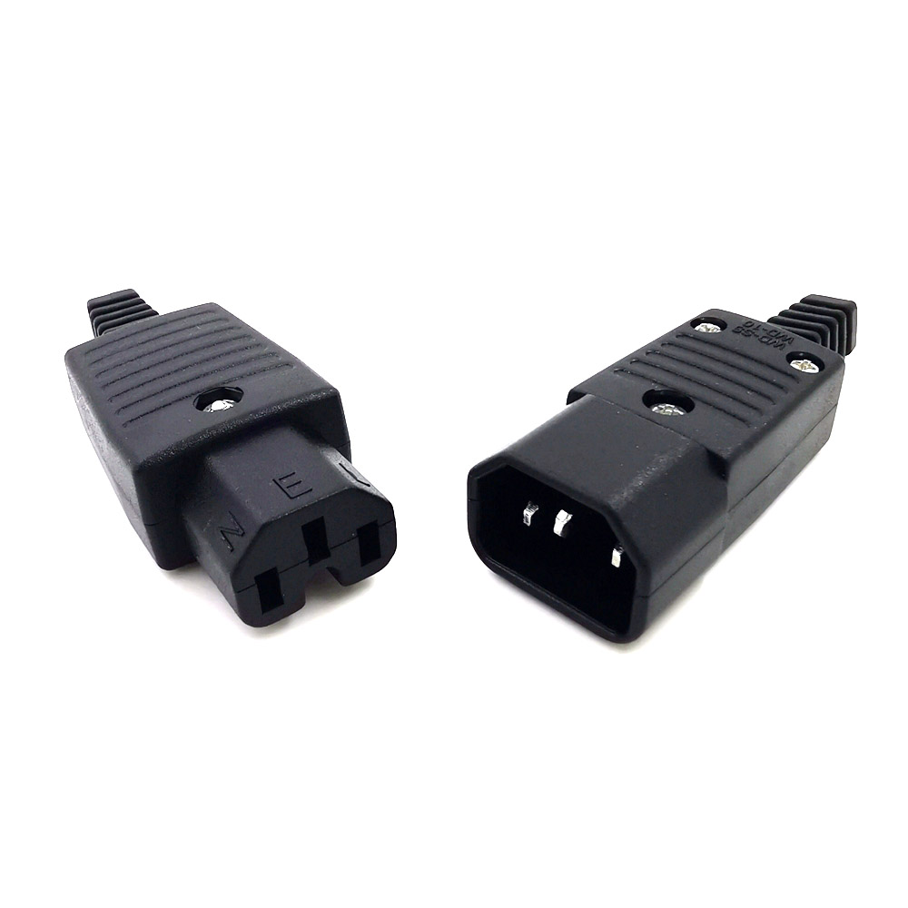 IEC320 C14 C15 AC PDU/UPS Wired Power Outlet Socket Cable Assemble Install Electrical Panel Receptacle AC Socket 250V 10A