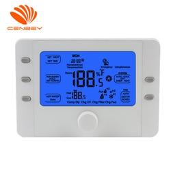 Termostato de ar condicionado inteligente coolair para 3 calor/2 sistema frio bomba de calor sistema ar condicionado termostato bateria 24v