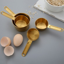 measuring cups set of 7 with 1 8 cup coffee scoop stainless steel metal measuring cup 7 piece stackable set with spout 8pcs Spoons Cups Baking Measuring Spoon Measuring Cup Set Stainless Steel Measuring Spoon Cup With Scale Cooking Kitchen Tool 6