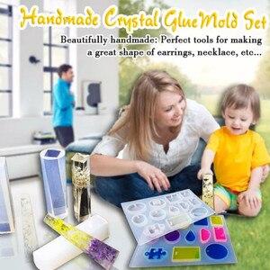 Image 2 - Handmade Crystal Glue Mould Mold Set Resin Jewelry Mold Kit 83pcs Bracelet Pendant Silicone Molds C44