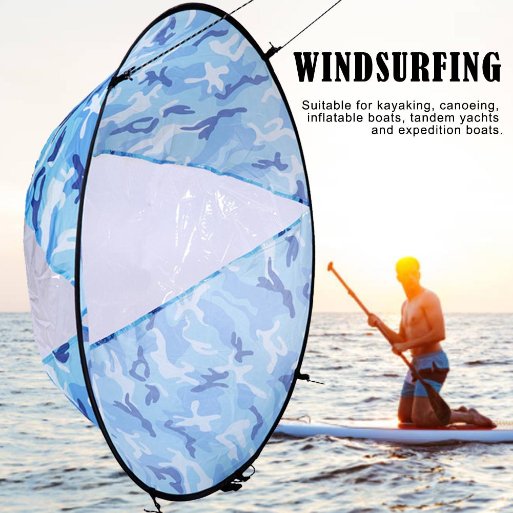 """46/"""" Kayak Sail Downwind Wind Paddle Instant Popup Board SUP Sail Kit /& Carry Bag"""