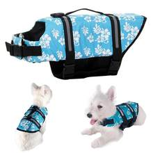 Summer Pet Dog Life Jacket Swimming Preserver Clothes Safety Vest Harness Saver(China)
