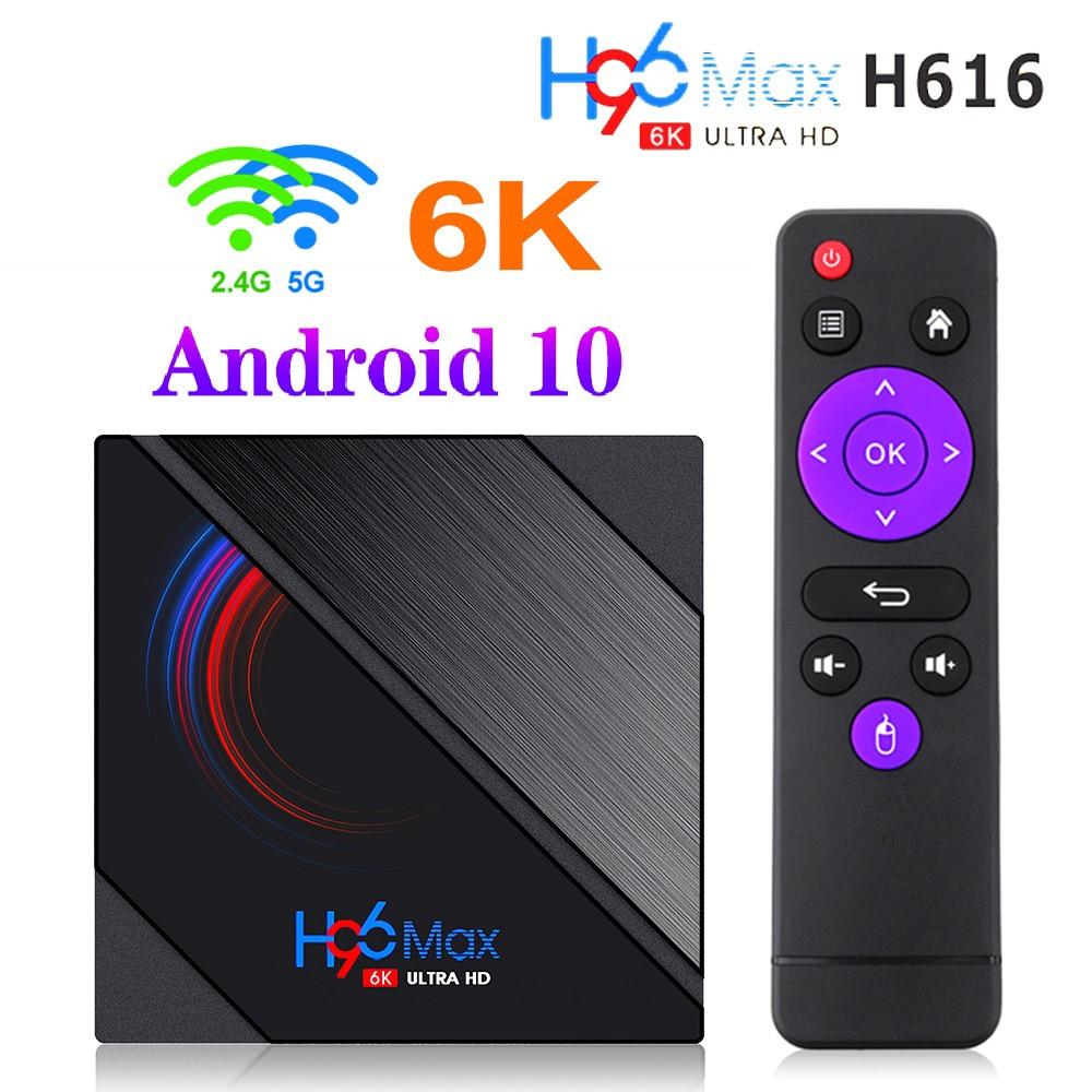 ТВ-приставка H96 Max H616, Android 10, 4 + 64 ГБ, 1080p, 4K, BT4.0