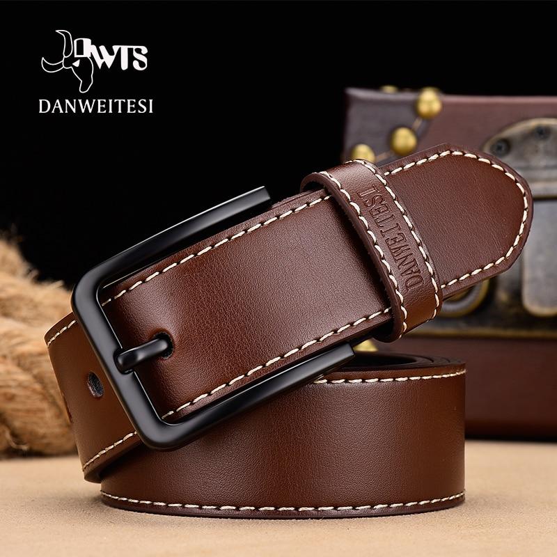 [DWTS] leather belt men belt male male genuine leather belt strap luxury pin buckle belts for men Cummerbunds ceinture homme