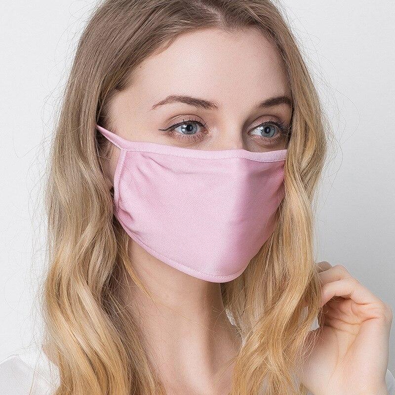 Double Layer Silk Mask Large Size, Anti Dust, Anti Pollen, Anti Foam,