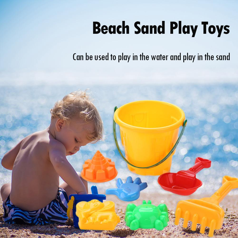 7pcs/set Baby Kids Beach Sand Play Toys Bucket Shovel Pretended Play Toys