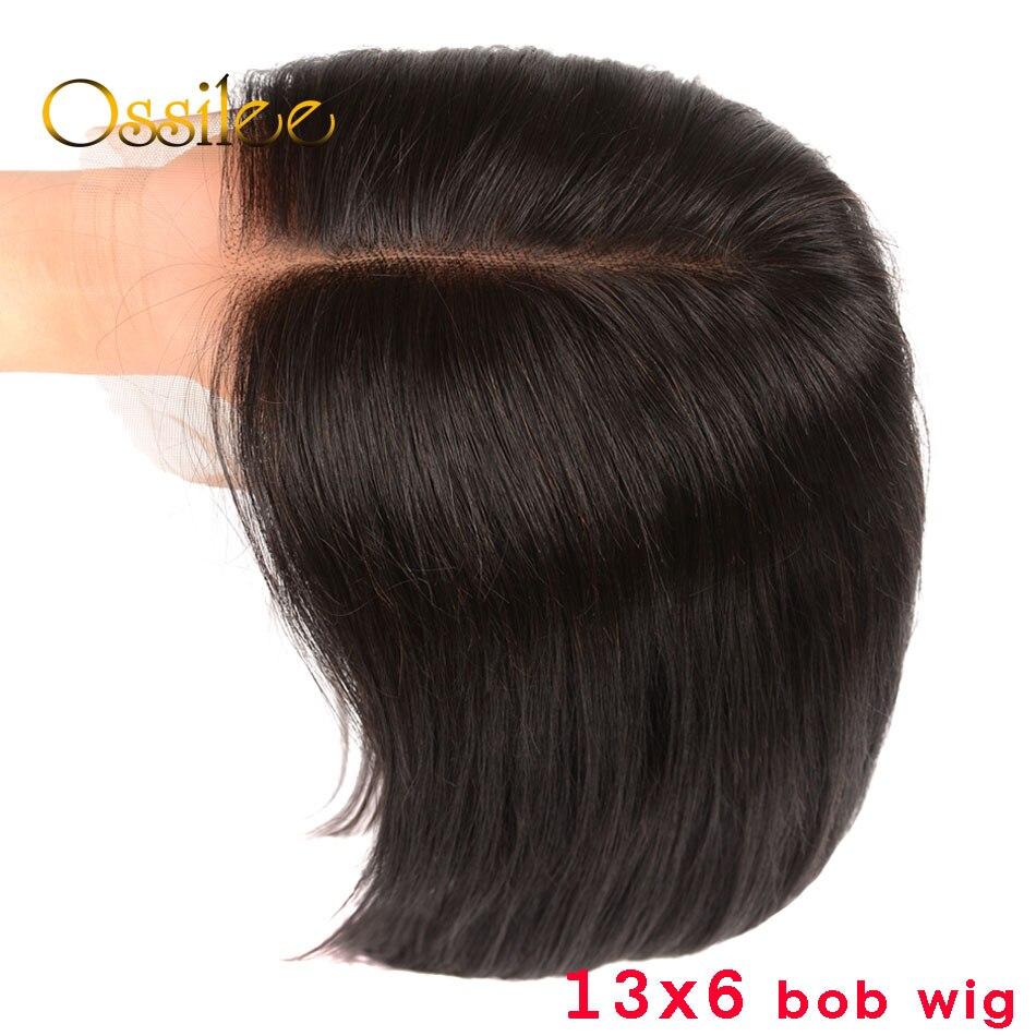 Bob Lace Front Wigs Remy Short Bob Human Hair Wigs Brazilian Straight 13x6 Lace Frontal Wig Deep Part Bob Wigs for Women