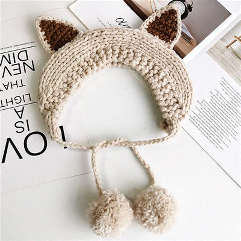 Knit Wool Crochet Earflap Winter Autumn Warm Plush Ear Muffs Fashion Cute INS Earmuffs Thicken Comfort Earmuffs Cache Oreille