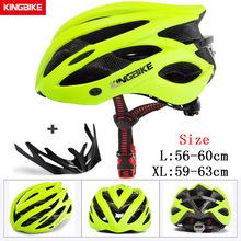 KINGBIKE 2019 nowy projekt czarny kaski rowerowe MTB Mountain szosowy kask rowerowy rower casco ciclismo kask rowerowy rozmiar L-XL tanie tanio (Dorośli) mężczyzn L-629 235g-245g 20 Formowane integralnie kask Bicycle Helmet Riding helmet bicycle helmet Adult men and women