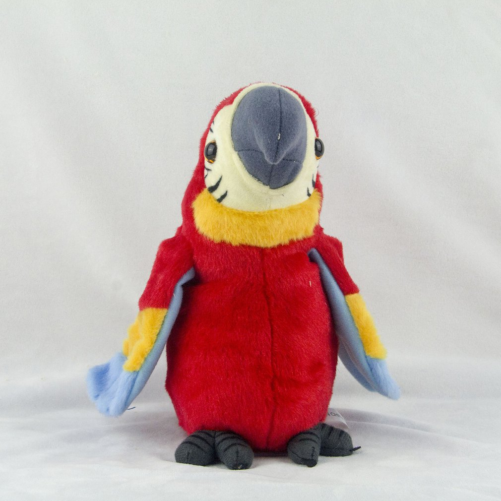 Adorable Speak Talking Record Cute Parrot Repeats Waving Wings Three Colors Stuffed Plush Toy Kid Birthday Gift