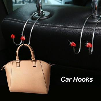 Multi-functional Metal Auto Car Seat Headrest Hanger Bag Hook Holder for Bag Purse Cloth Grocery Storage Auto Fastener Clip image