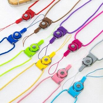 100 unids/lote Correa colgante de teléfono móvil correas de cuello Datachable Flexible Sling collar cuerda para iPhone 8 7 6 6s Samsung